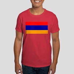 Armenia Armenian Blank Flag Navy Blue T-Shirt