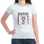Brain Cancer Month Jr. Ringer T-Shirt