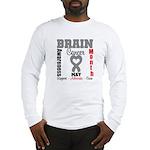 Brain Cancer Month Long Sleeve T-Shirt