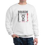 Brain Cancer Month Sweatshirt