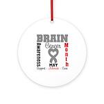 Brain Cancer Month Ornament (Round)