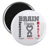 Brain Cancer Month Magnet