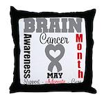 Brain Cancer Month Throw Pillow