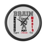 Brain Cancer Month Large Wall Clock