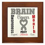 Brain Cancer Month Framed Tile