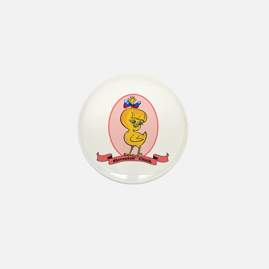 Slovenian Chick Mini Button