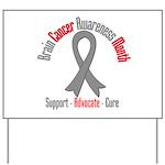 Brain Cancer Awareness Yard Sign