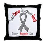 Brain Cancer Awareness Throw Pillow
