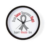 Brain Cancer Awareness Wall Clock