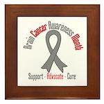 Brain Cancer Awareness Framed Tile