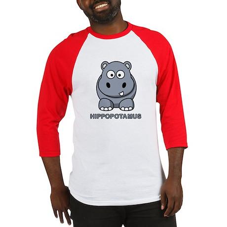 Cartoon Hippopotamus Baseball Jersey