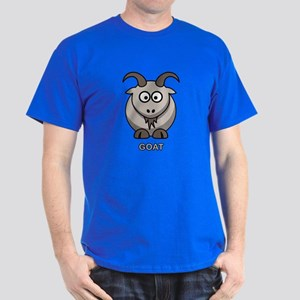 Cartoon Goat Dark T-Shirt