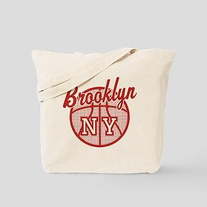 Brooklyn NY Basketball Tote Bag