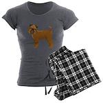 Griffon Bruxellois Women's Charcoal Pajamas