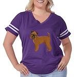 Griffon Bruxell Women's Plus Size Football T-Shirt