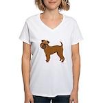 Griffon Bruxellois Women's V-Neck T-Shirt