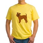 Griffon Bruxellois Yellow T-Shirt