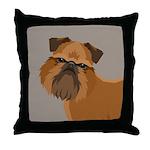 Griffon Bruxellois Throw Pillow