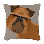 Griffon Bruxellois Woven Throw Pillow