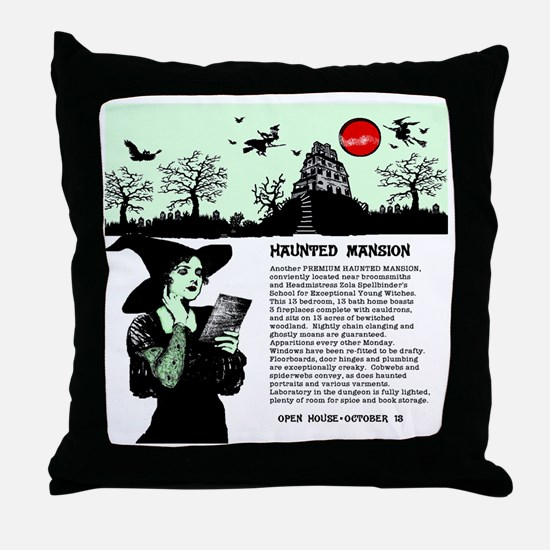 Unique Haunted mansion Throw Pillow