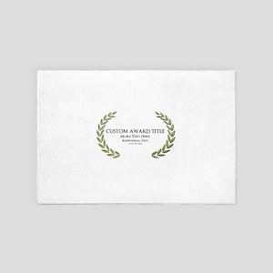 Custom Award Laurels 4' x 6' Rug