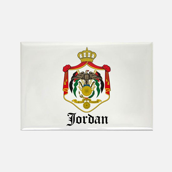 Jordanian Coat of Arms Seal Rectangle Magnet