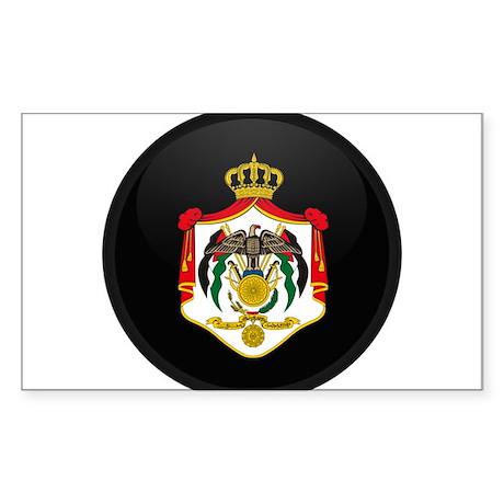 Coat of Arms of Jordan Rectangle Sticker