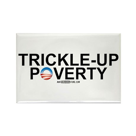 Trickle-Up Poverty Rectangle Magnet