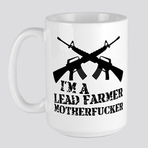 im a lead farmer tropic thunder Large Mug