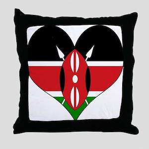 I Love kenya Throw Pillow