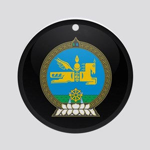 Coat of Arms of mongolia Ornament (Round)