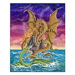 Dragon Battle Small 16x20 Poster