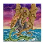 Dragon Battle Tile Coaster