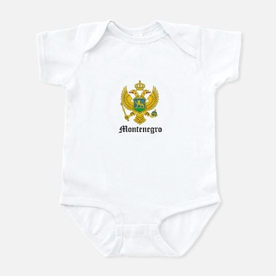 Montenegrin Coat of Arms Seal Infant Bodysuit