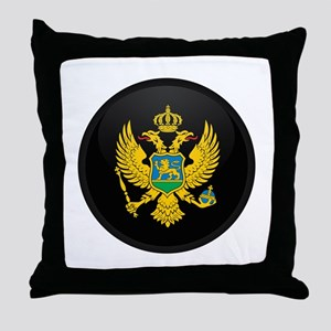 Coat of Arms of montenegro Throw Pillow