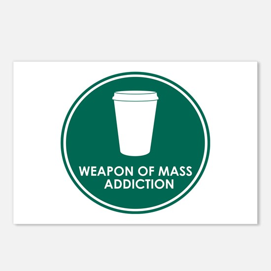 Weapon of Mass Addiction Postcards (Package of 8)