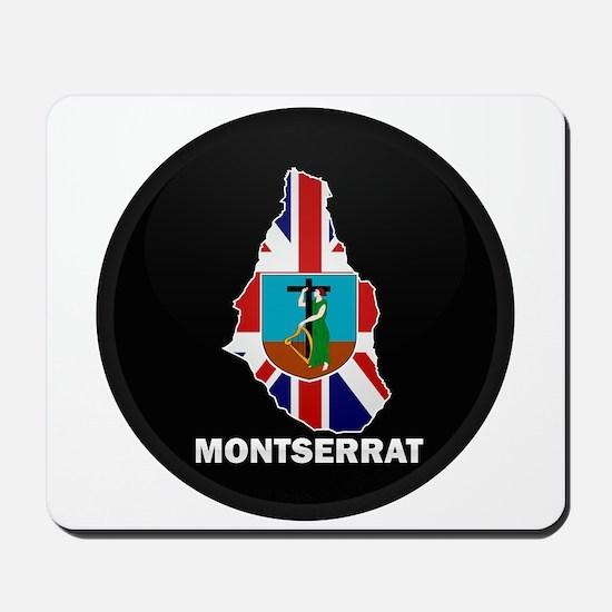 Flag Map of Montserrat Mousepad