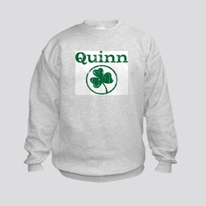 Quinn shamrock Kids Sweatshirt
