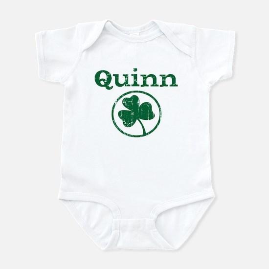 Quinn shamrock Infant Bodysuit