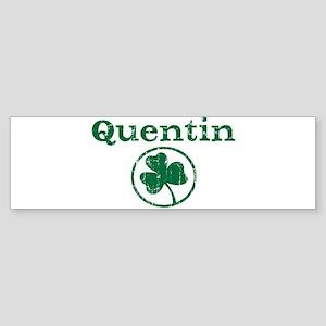 Quentin shamrock Bumper Sticker