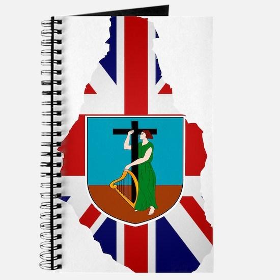 Montserrat Flag Map Journal
