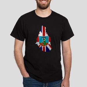 Montserrat Flag Map Dark T-Shirt