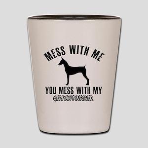 German Pinscher dog breed designs Shot Glass