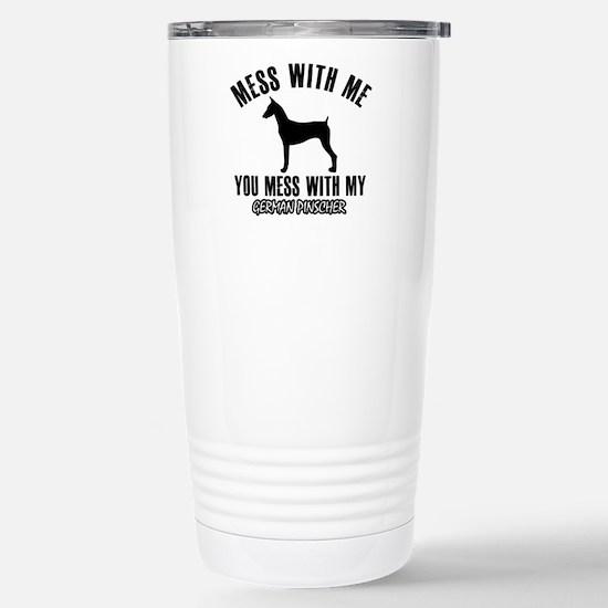 German Pinscher dog bre Stainless Steel Travel Mug