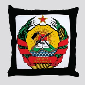 mozambique Coat of Arms Throw Pillow
