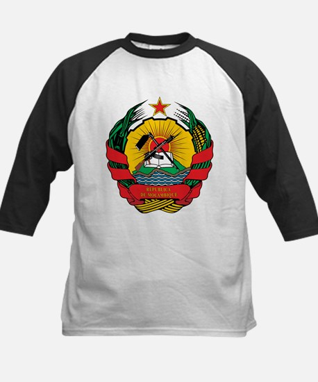 mozambique Coat of Arms Kids Baseball Jersey