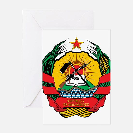 mozambique Coat of Arms Greeting Card
