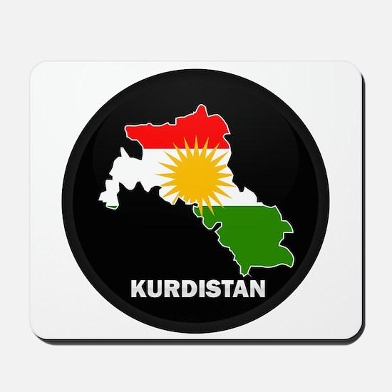 Flag Map of Kurdistan Mousepad
