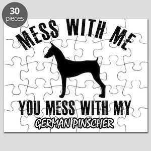 German Pinscher dog breed designs Puzzle