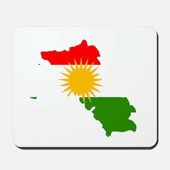 Kurdistan Flag Map Mousepad